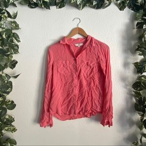 🆕Loft Casual Button Down Pink